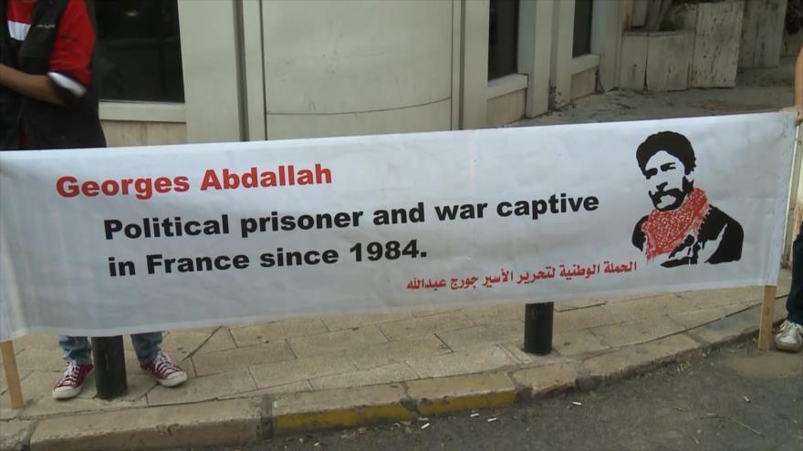 Pueblo libanés pide liberación del activista encarcelado en Francia