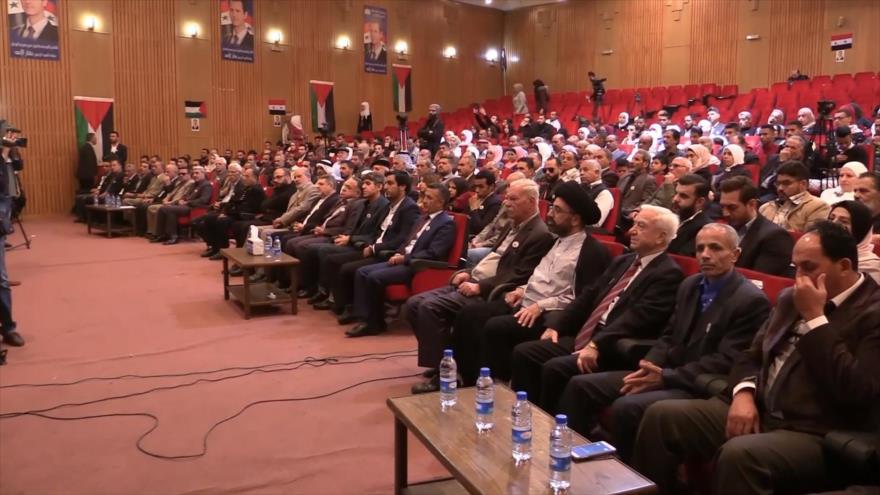 Damasco acoge una conferencia sobre la Juventud palestina