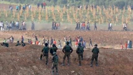 Militares israelíes abren fuego contra agricultores en Gaza