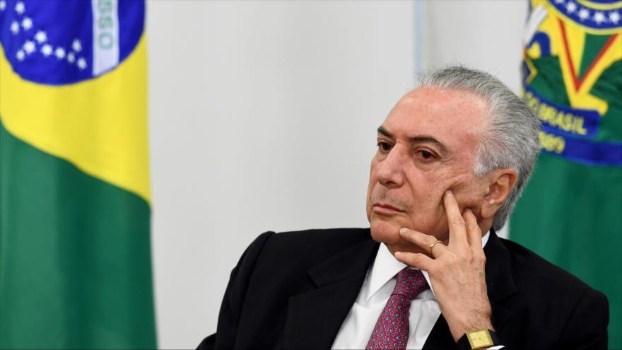 El presidente de Brasil, Michel Temer, durante un acto en Brasilia (capital), 6 de septiembre de 2018. (Foto: AFP)