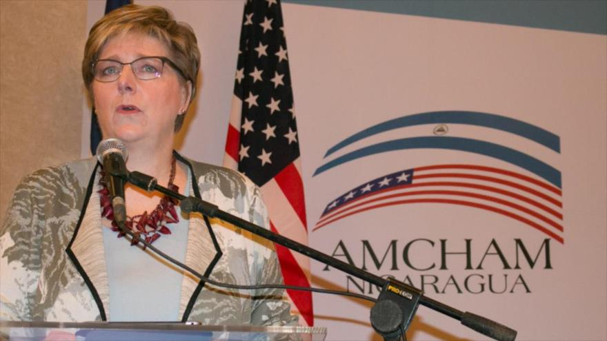 Laura Dogu, embajadora de Estados Unidos en Nicaragua, 29 de octubre de 2018.