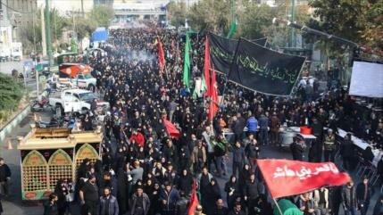 Millones de iraníes conmemoran ceremonia de Arbaín en todo el país