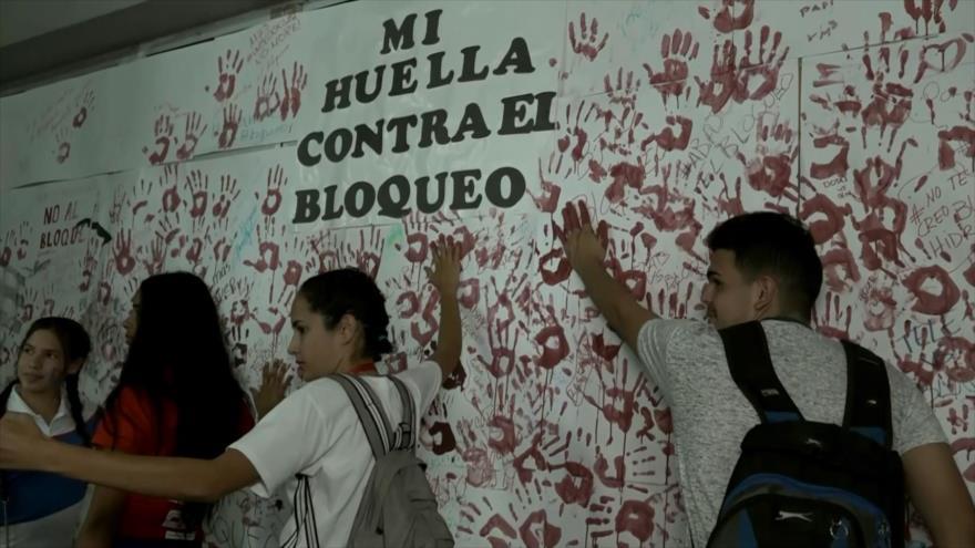 Cubanos rechazan bloqueo económico de EEUU