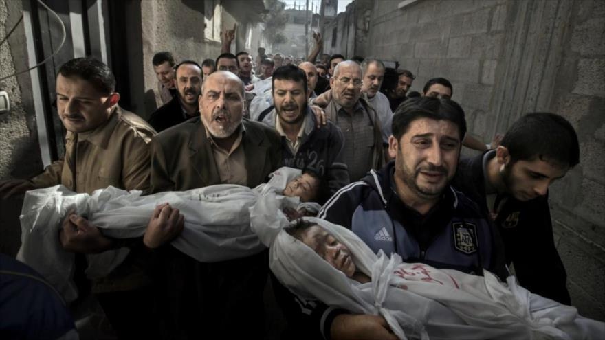 Fotos que sacuden al mundo: Funeral de dos niños palestinos
