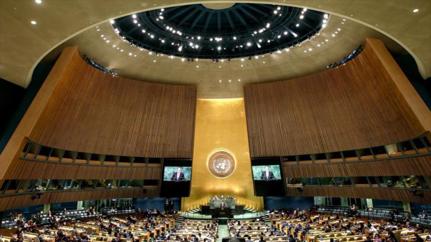 Una sesión de la Asamblea General de la Organización de las Naciones Unidas (AGNU), en Nueva York, 31 de octubre de 2018.