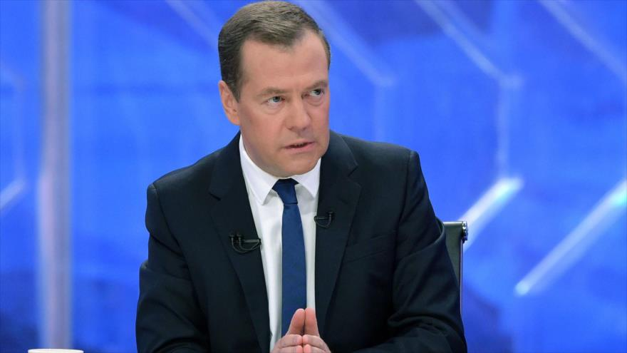 El primer ministro ruso, Dmitry Medvedev.