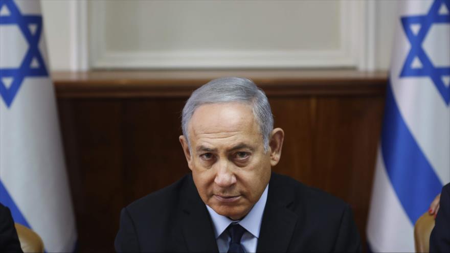 El primer ministro de Israel, Benjamín Netanyahu, en una reunión con su gabinete, 28 de octubre de 2018. (Foto: AFP)