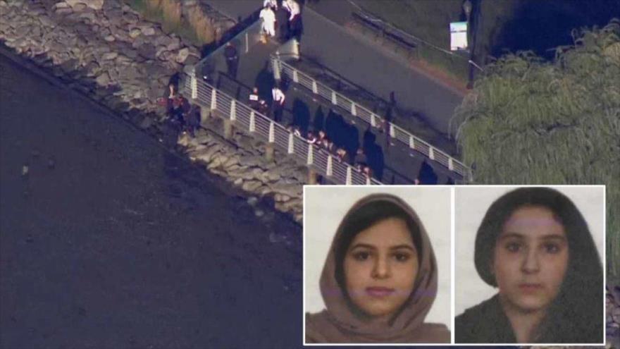 Hermanas saudíes identificadas como Rotana Farea y Tala Farea, cuyos cuerpos fueron hallados en el río Hudson, Nueva York, EE.UU.