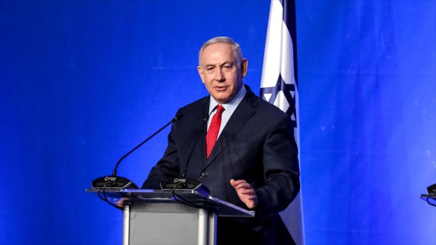 El primer ministro de Israel, Benjamín Netanyahu, en una conferencia de prensa en la ciudad búlgara de Varna, 1 de noviembre de 2018. (Foto: AFP)