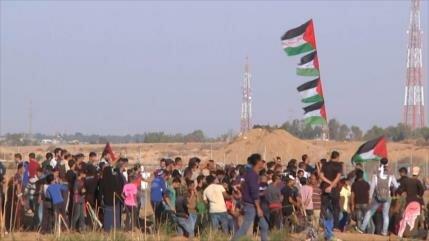 Israel reprime con mano dura la marcha palestina en Gaza