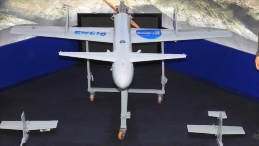 Una aeronave no tripulada yemení Qasef-1, de producción nacional.