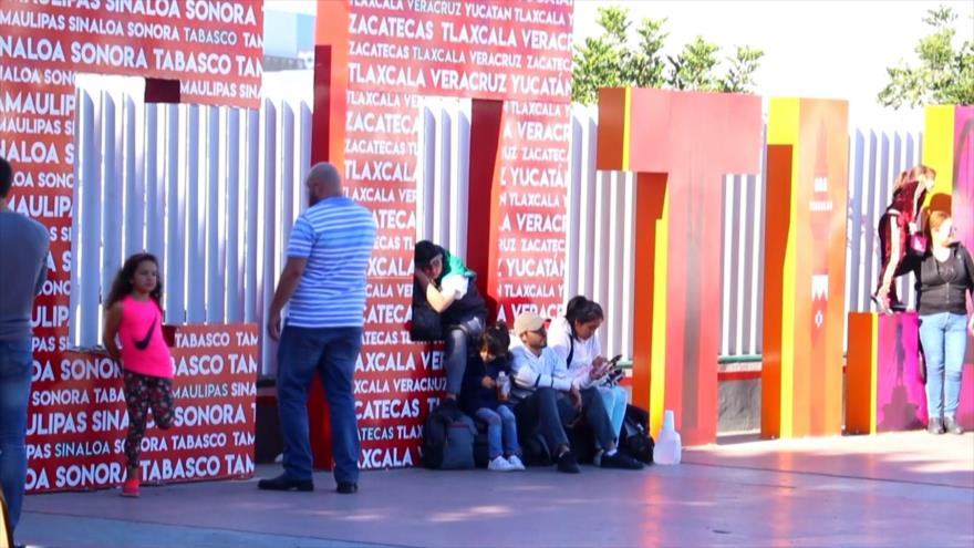 Ofertan trabajo en México a caravana migrante