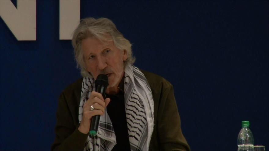 Roger Waters asiste a un acto pro Palestina en Uruguay