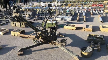 Vídeo: Ejército sirio incauta armas israelíes en Al-Quneitra