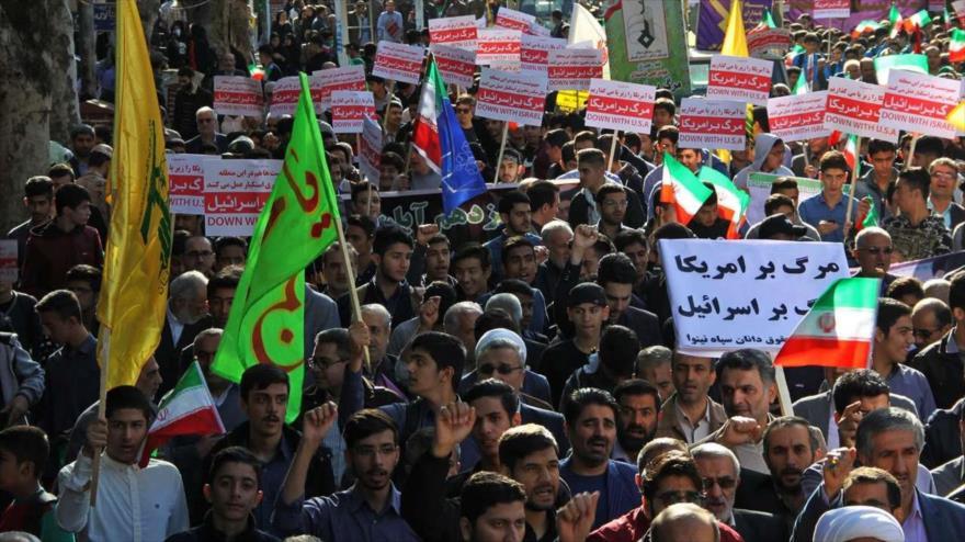 Iraníes condenan tras masivas marchas del 4-N la hostilidad de EEUU
