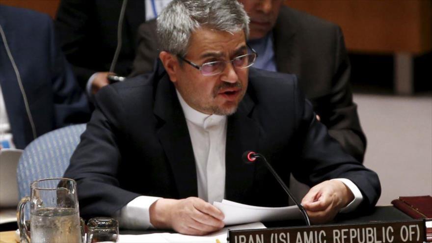 El embajador de Irán ante la Organización de las Naciones Unidas (ONU), Qolamali Joshru.