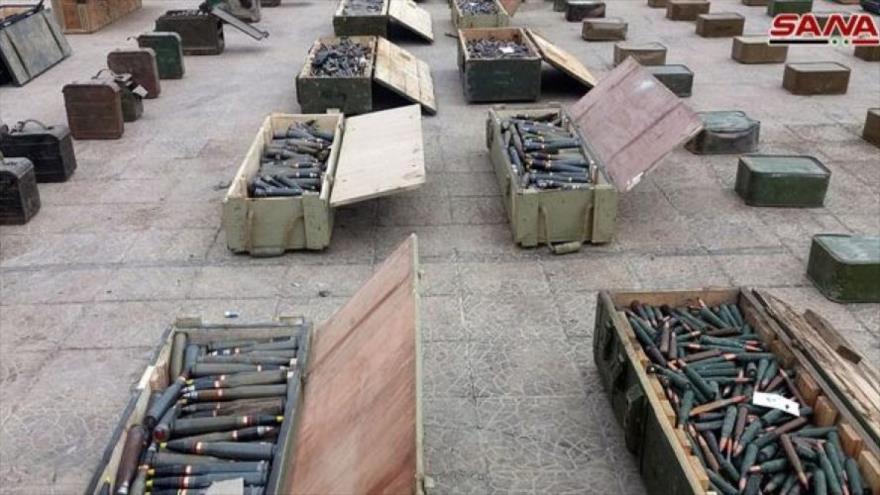 Siria incauta armas de EEUU y el Reino Unido en Damasco y Al-Quneitra