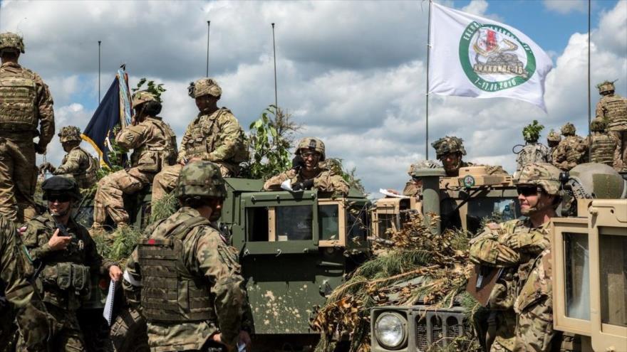 Soldados de países miembros de la OTAN participan en una ronda de maniobras Anakonda en Polonia. 16 de junio de 2016.