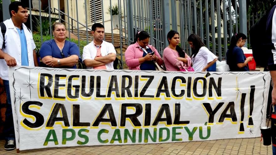 Médicos protestan por falta de pago en Paraguay