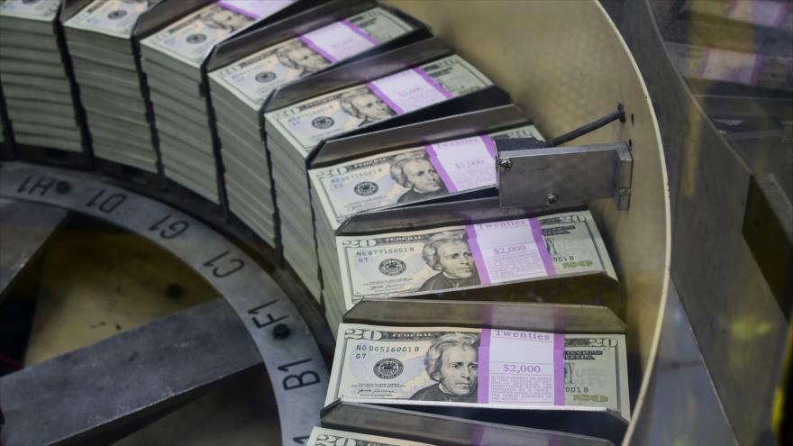 Billetes de 20 dólares en la Oficina de Grabado e Impresión de Estados Unidos, 20 de julio de 2018. (Foto: AFP)