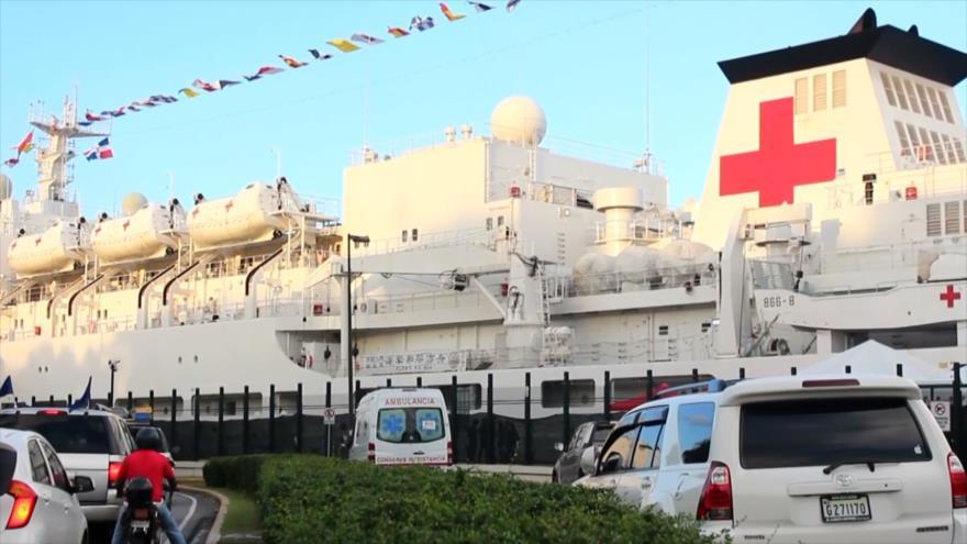 Dominicanos reciben atenciones médicas en buque hospital chino