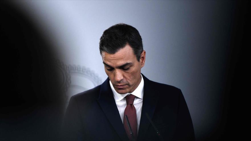 El presidente de Gobierno español, Pedro Sánchez, celebra una conferencia de prensa en el palacio de La Moncloa, 7 de noviembre de 2018. (Foto: AFP)