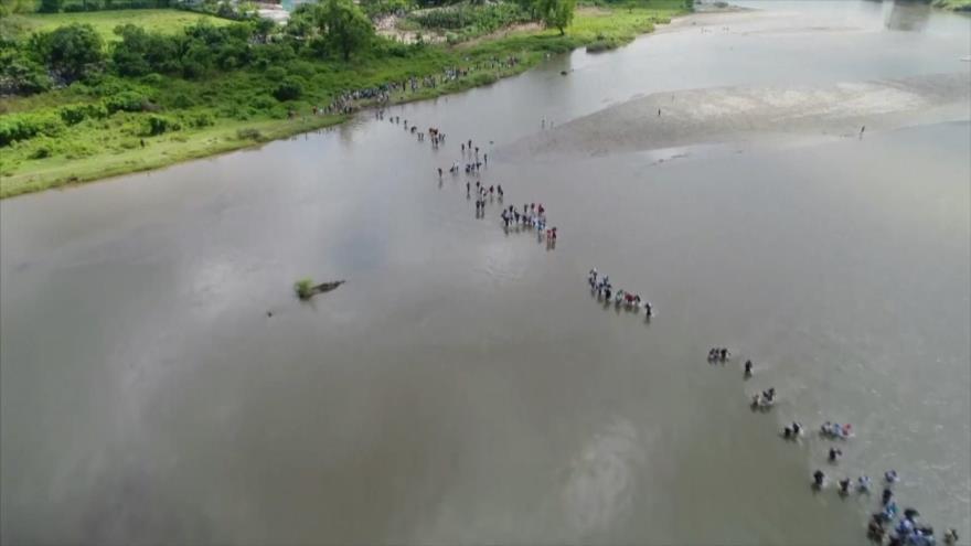 La caravana de los migrantes centroamericanos y sus razones