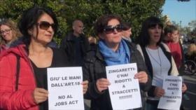 Trabajadores de servicios sanitarios realizan huelga en Italia