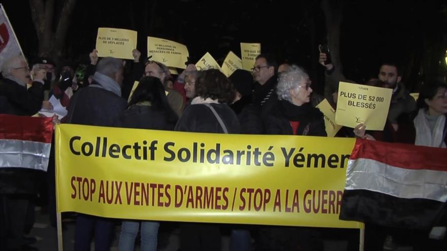 Franceses denuncian la venta de armas a Arabia Saudí