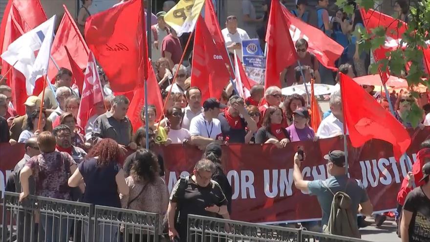 Paro nacional en Chile contra el desempleo y los bajos salarios