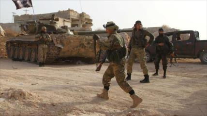 Terroristas transportan sustancia química desde Idlib a Hama