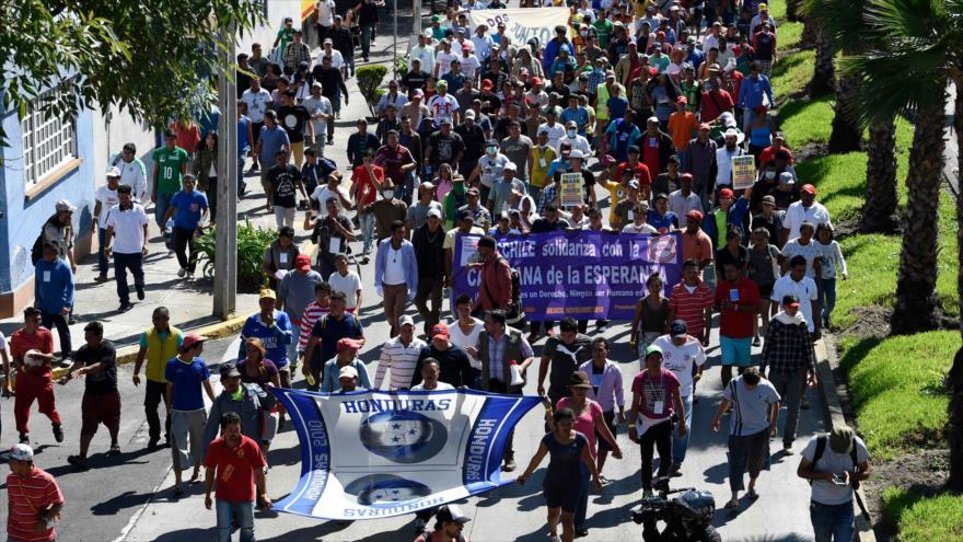 Migrantes de la caravana piden ayuda a la ONU