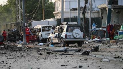 Atentado múltiple deja 20 muertos y 40 heridos civiles en Somalia