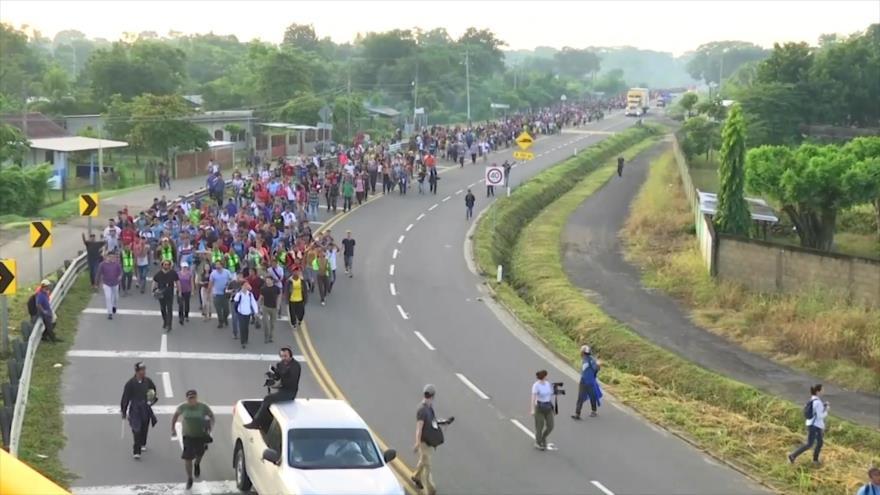 La caravana de migrantes de Honduras demanda al Gobierno de Trump