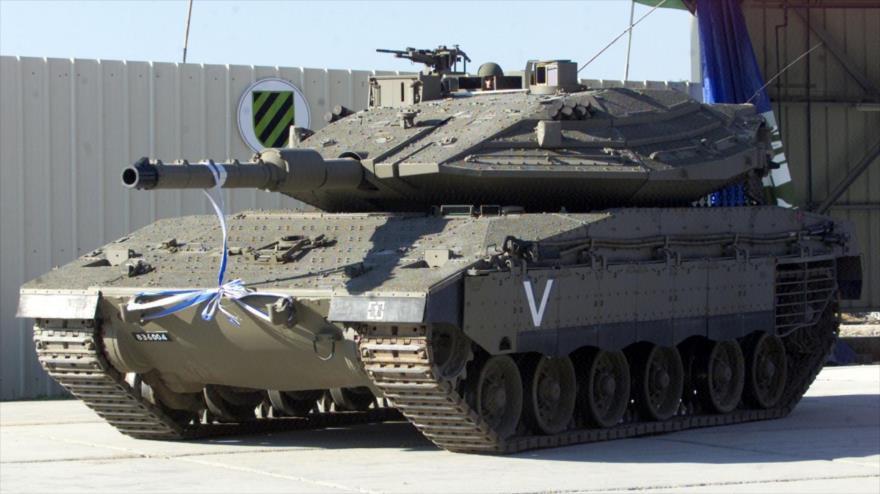 Un tanque israelí modelo Merkava.