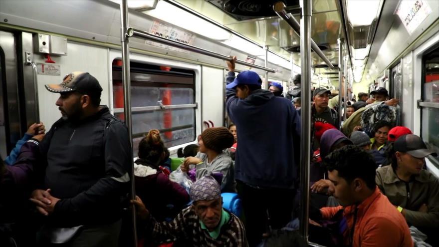 Éxodo centroamericano reanuda camino a EEUU desde Ciudad de México