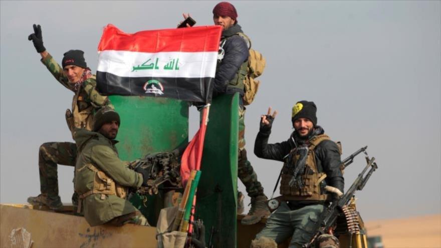 Las Unidades de Movilización Popular (Al-Hashad Al-Shabi, en árabe) en la provincia septentrional de Nínive.
