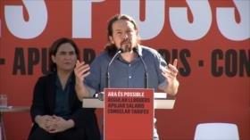 Iglesias y Colau instan a frenar a la extrema derecha en España