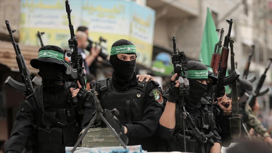 Combatientes del Movimiento de Resistencia Islámica de Palestina (HAMAS) en la Franja de Gaza, 6 de mayo de 2018. (Foto: AFP)