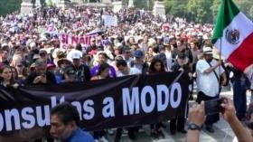 Protesta en México. Ataque israelí a Gaza. Complot saudí