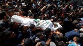 Entierran a 6 palestinos asesinados por Israel en Franja de Gaza