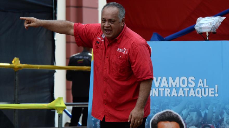 El presidente de la Asamblea Nacional Constituyente, Diosdado Cabello, Caracas, 22 de agosto de 2018.
