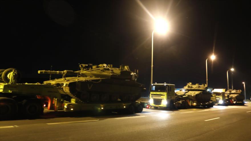 Israel despliega tanques cerca de Gaza para posible guerra con HAMAS