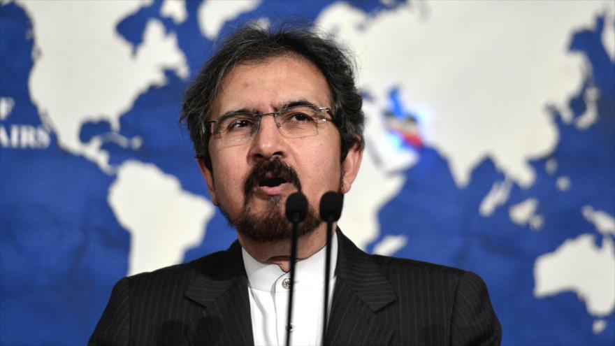 El portavoz de la Cancillería de Irán, Bahram Qasemi, en una conferencia de prensa.