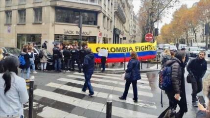 Vídeo: Colombianos reciben a Duque en Francia con protestas
