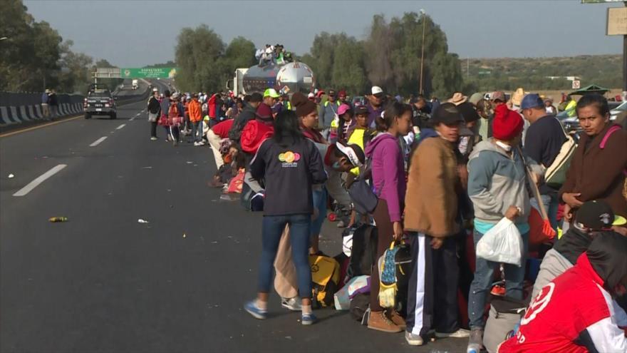 Migrantes centroamericanos llegan a frontera México-EEUU