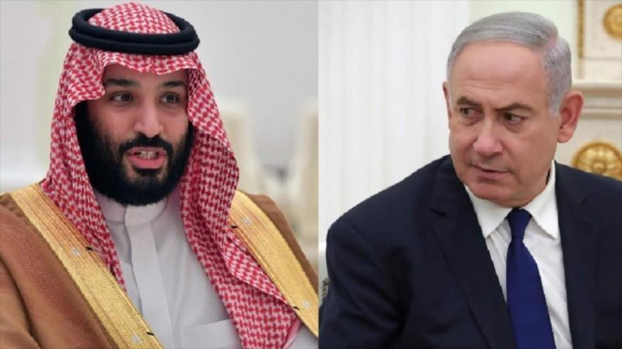 El príncipe heredero saudí, Muhamad bin Salman Al Saud, y el premier israelí, Benjamín Netanyahu.