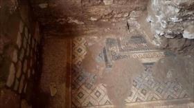 Fotos: Hallan en Siria un gran mosaico de la época romana