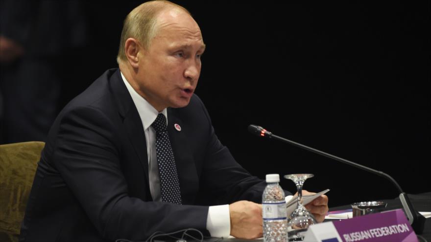 Putin asegura que sanciones de EEUU no afectarán avance económico ruso