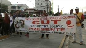 Marchas contra políticas antipopulares de Iván Duque en Colombia